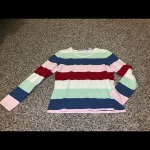 Tommy Hilfiger Women's Striped Long Sleeve Medium
